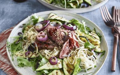 Oosterse biefstuk salade
