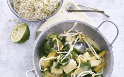 Groene curry met forel