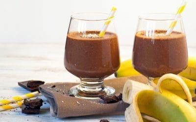 Smoothie banaan en cacao