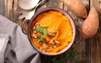 Zoete aardappel puree
